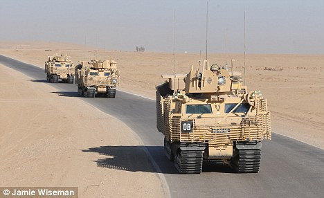End in sight? British troops, pictured here in Sangin, Helmand, have been in action in Afghanistan since 2001