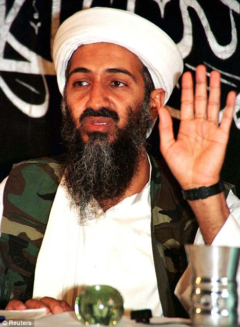 Osama Bin Laden also appeared in the video along side Al Qaeda number two Ayman Al-Zawahiri