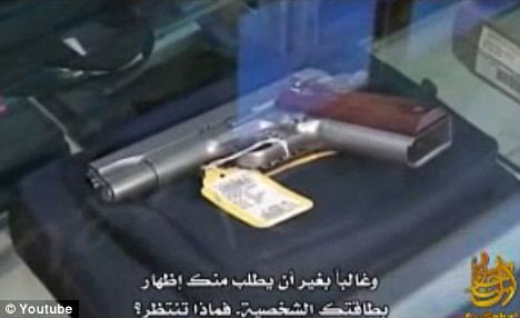 Weapons, as well as likely targets were displayed throughout the video