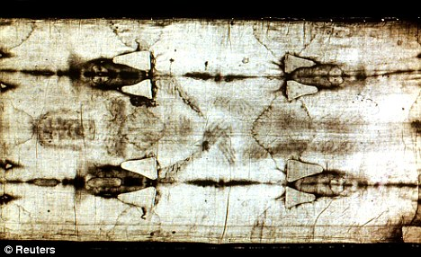 Controversy: An art critic has claimed the Shroud of Turin, an ancient linen sheet revered by some Christians as the burial cloth that wrapped Christ's body after his crucifixion, was created by the Italian master Giotto