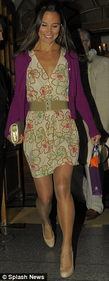Best foot forward: Pippa's shoes were almost exactly the same as those worn by her mother, Carole