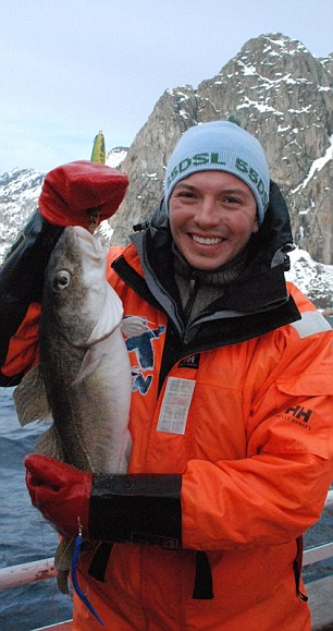 Oliver happy with his caught of stockfish