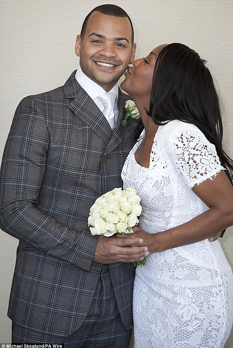 Wedded bliss: The couple married in a surprise ceremony in a New York hotel last December