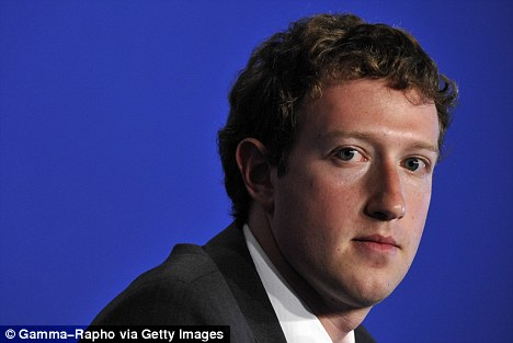 Early success: Zuckerberg was declared the world's youngest billionaire in 2008, aged 25. His personal wealth is estimated at $13.5billion