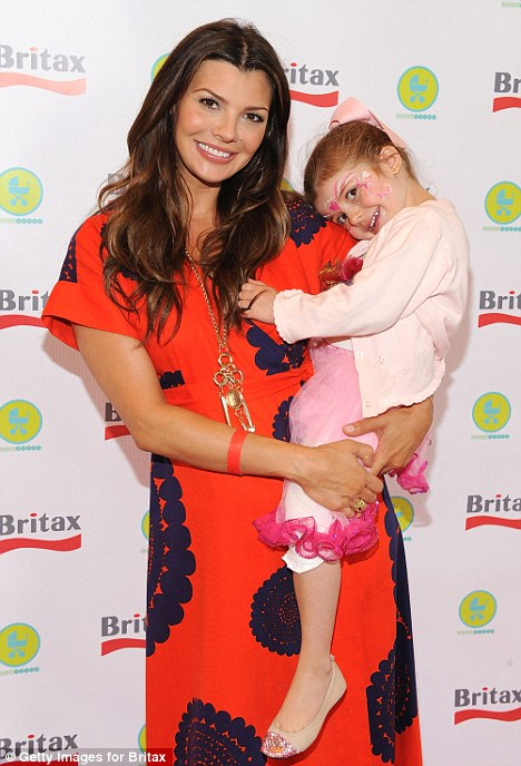 Mother daughter day: Ali Landry was also at the event with her daughter Estella who looked pretty in pink