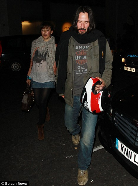 Unlucky in love: Keanu has recently been linked to Charlize Theron but has seemingly not had a significant relationship for many years
