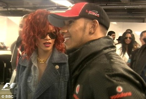 So tell me about your car: Rihanna and Lewis discuss the driver's crash