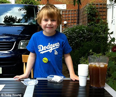Ludo Young, six, had £12 stolen from a lemonade stall set up outside his house