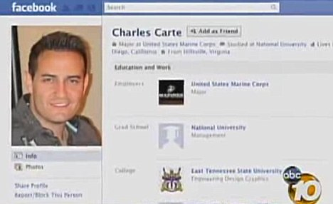 Social network: U.S. Marine Major Charles Carte's Facebook page