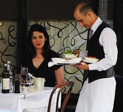 Haunt of the rich and famous: Nigella Lawson dines at Scott's