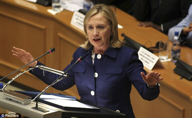 Hillary Clinton has accused Iran of assisting the Syrian government in their bloody crackdown against pro-democracy campaigners
