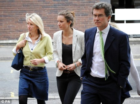 Compassion: Donal and Anna McGrath, the parents of Benedict McGrath, arrive at the court with one of his sisters