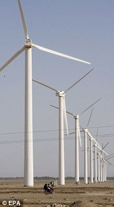Air we go: The IPCC's report said that wind farms will have a huge part to play in providing power for the world