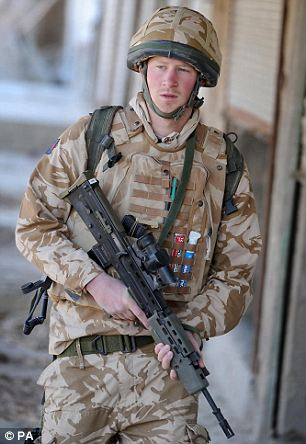 Prince Harry on patrol in the deserted town of Garmisir close to FOB Delhi, where he was posted in Helmand province, Southern Afghanistan