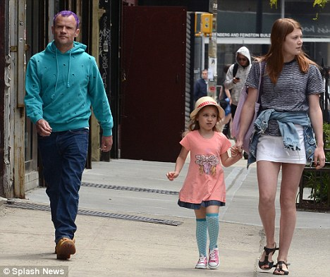 Family guy: Flea out with his daughters Sunny Bebop Balzary (centre) and Clara Balzary