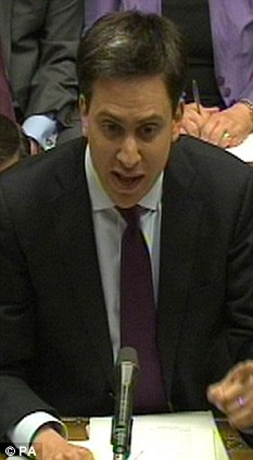 Criticism: Deputy Tory chairman Michael Fallon said even Ed Miliband does not agree with Ed Balls' deficit reduction plan