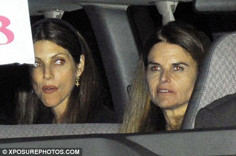 Friend of Bono: Maria Shriver is seen departing the Angel Stadium in Anaheim following the U2 concert