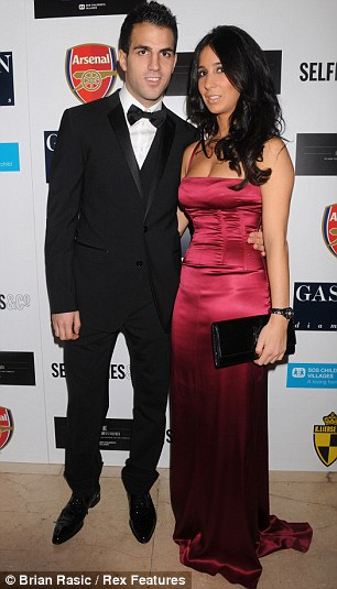 Split: Cesc and his former girlfriend Carla Garcia finished last month