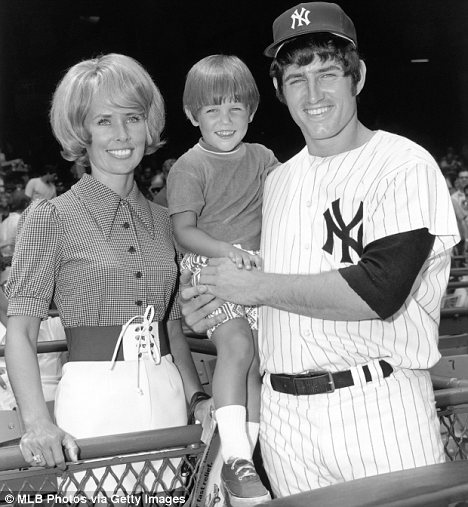 Scandal: Fritz Peterson, pictured with his former wife Marilyn and their son Greg, fell for the partner of fellow Yankees pitcher Mike Kekich
