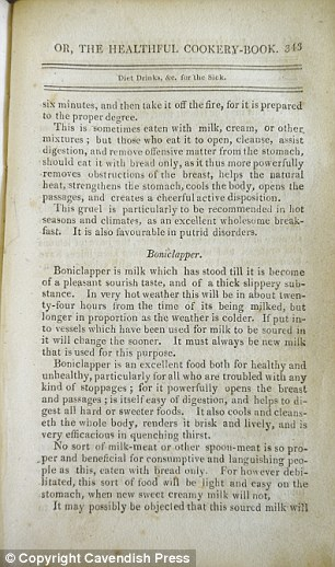 Readers with constipation are advised to drink old sour milk known as 'Boniclapper' to 'powerfully open the breast and passages