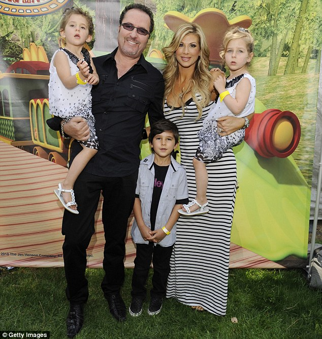 Family time: Alexis says she is devoted to her husband Jim Bellino and their three children and says that she will never get divorced as she still suffers the effects of her parents splitting up