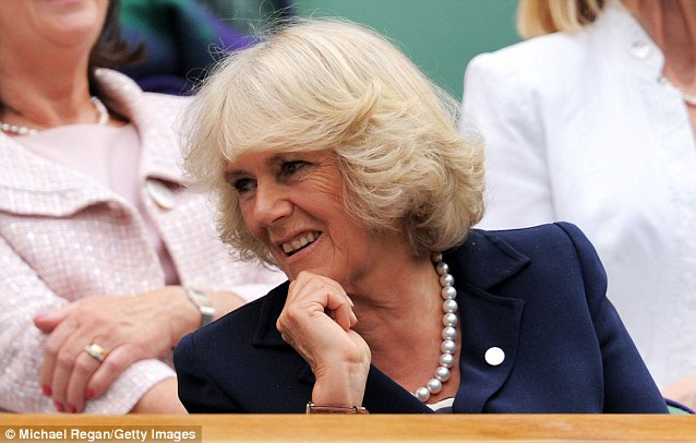 Royal approval: the Duchess of Cornwall was another famous tennis fan to take in the Venus Williams's dramatic Centre Court win