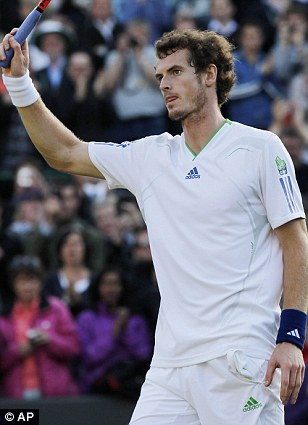 Routine win: Andy Murray salutes the Court One crowd after seeing off Germany's Tobias Kamke in straight sets