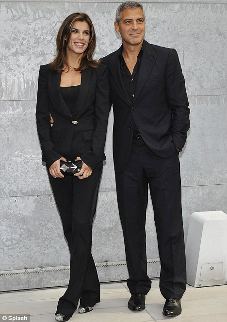 Hollywood bachelor: George Clooney, pictured with the Italian star in September, has vowed to never walk down the aisle again