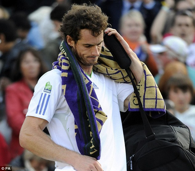 Victorious: Until last year Murray had played all but one of his games on Centre Court