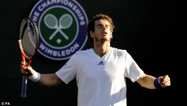Shunned: Andy Murray was relegated to Court One after other players complained of favouritism