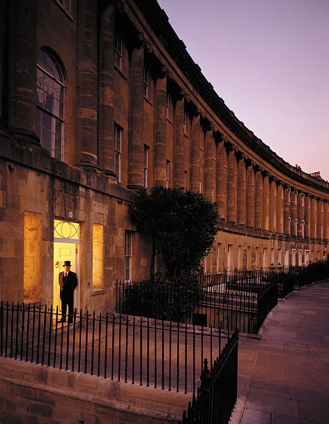 Grand: the Royal Crescent Hotel in bath, another prized hotel in the Von Essen empire