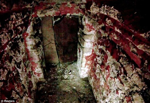 Unseen for 1,500 years: Scientists lowered a tiny camera into the Mayan tomb at the archaeological site in Palenque, southern Mexico. Amazingly, red paint still remains on the walls