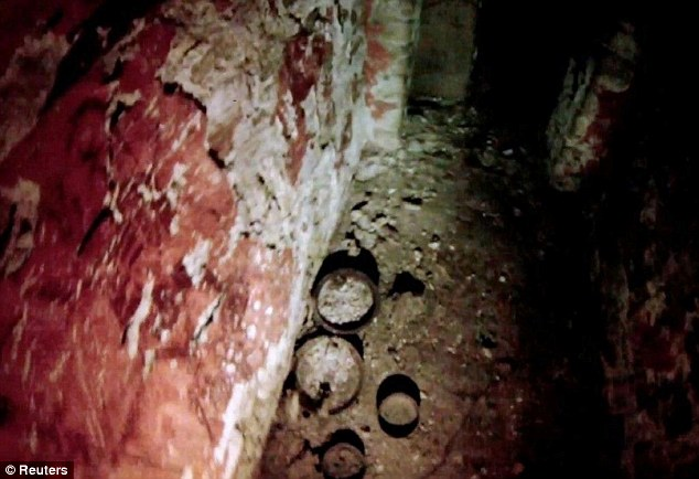 The floor of the tomb appears to be covered with detritus. It was not immediately evident in the footage if the tomb contains recognisable remains