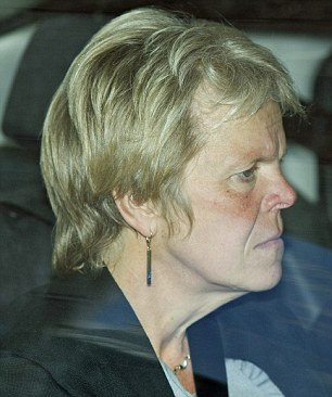 Sally Dowler leaving court yesterday after she broke down on hearing the verdict