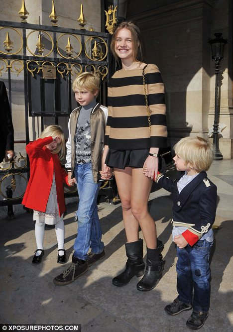 Model mother: Natalia and Justin have three children together two boys and a girl