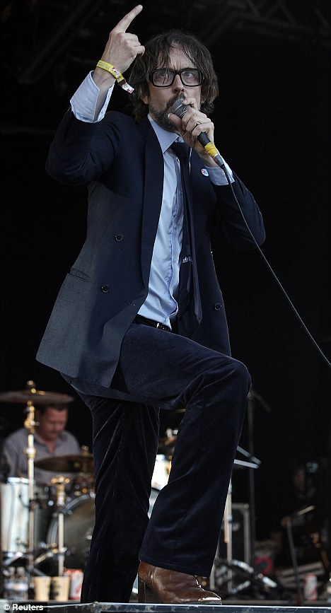 Here we go again: Pulp frontman Jarvis Cocker greets the crowd at their fourth Glastonbury appearance