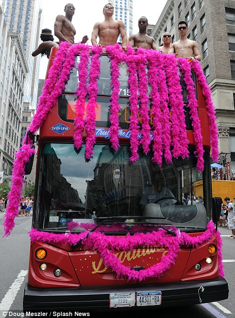 Party Bus: There was a carnival atmosphere in the city
