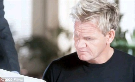 Success not on the menu: Gordon Ramsay has a cameo in British rom com Love's Kitchen, which took just £121 in box office takings last weekend, it's opening