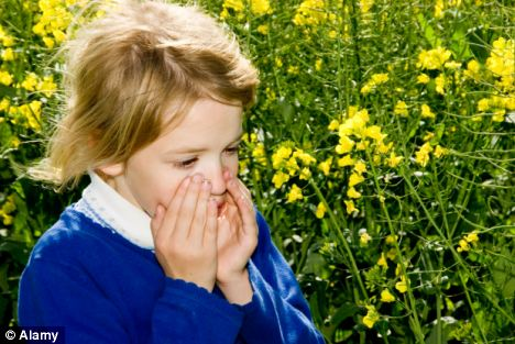 Itchy eyes: Hay fever symptoms can be extremely debilitating
