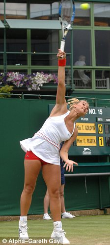 Turn off: Tatiana Golovin, left, flouted the white-only clothes rule while Maria Sharapova is guilty of loud grunting