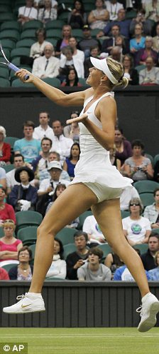 Turn off: Mary will not watch the finals if Maria Sharapova gets in because of her loud grunting