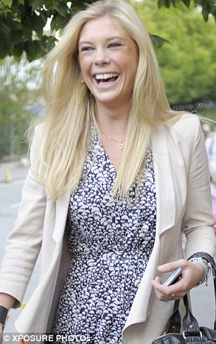 All smiles: Chelsy Davy did not appear to be upset at news of her old flame's new romance when she left Wimbledon last night