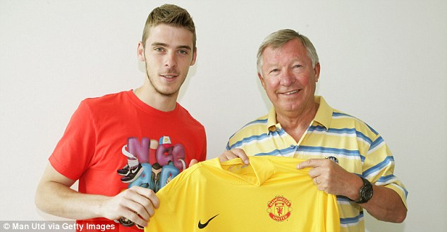 Aiming high: David de Gea (left) believes Man United can win the Champions League