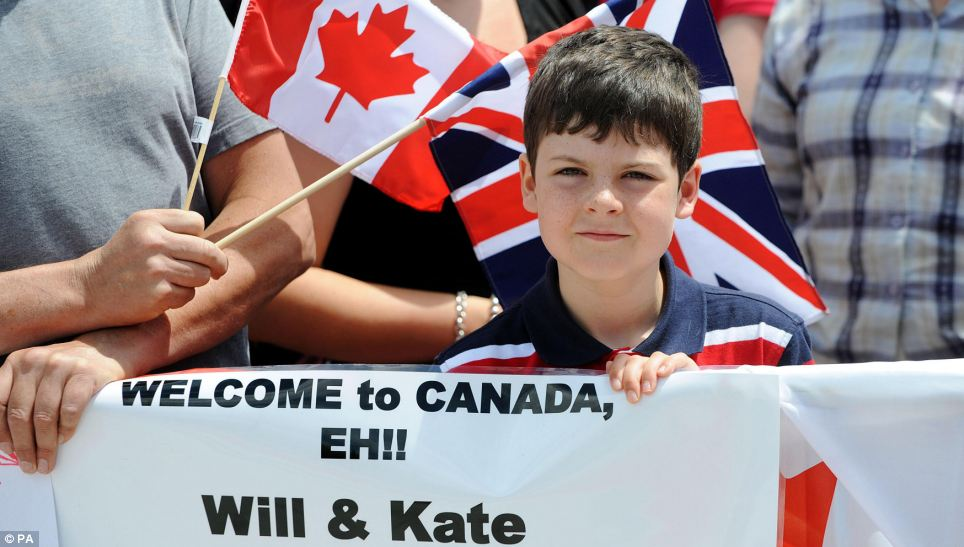 Eh! Thousands of Canadians queued for hours to meet the Royal couple