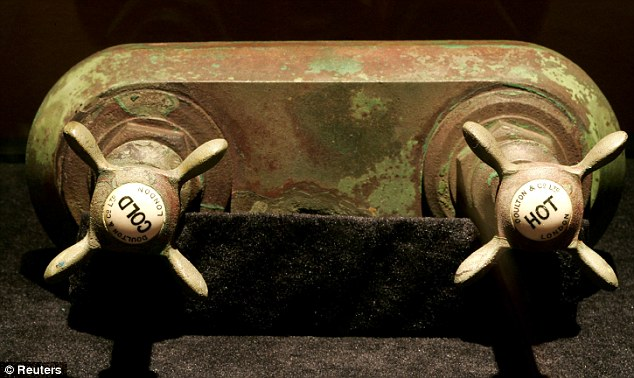These well-preserved bath taps were salvaged on an earlier expedition to the wreck