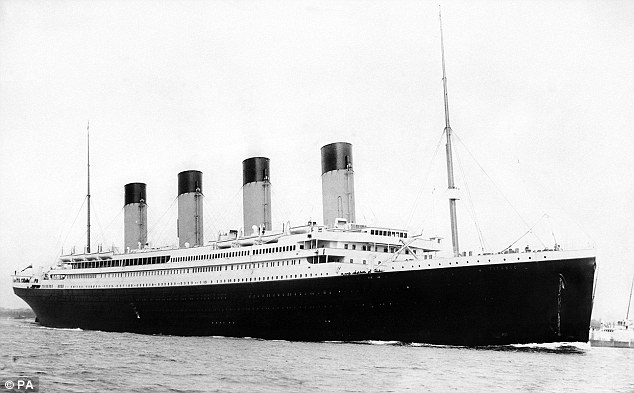 Doomed: The 'unsinkable' Titanic setting sail from Southampton in 1912