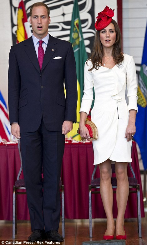 Prince William and Catherine, Duchess of Cambridge arrive at a citizenship ceremony in Gatineau.