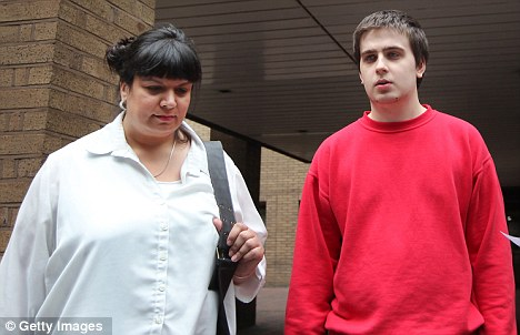 Suspect: Ryan Cleary pictured with with his mother Rita outside Southwark Crown Court on June 27th after being charged with hacking