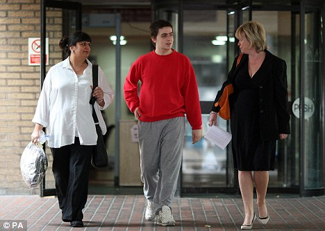 Bailed: Cleary and his mother Rita with his lawyer Karen Todner, right, after he was released on conditional bail