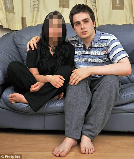 They just clicked: Ryan Cleary with his secret girlfriend Amy Chapman, whose face is obscured to protect her identity